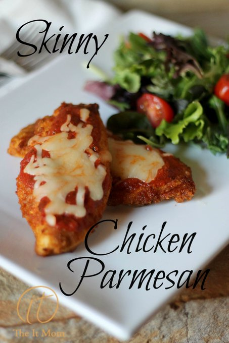 Skinny Chicken Parmesan-Low Carb Recipe • The It Mom