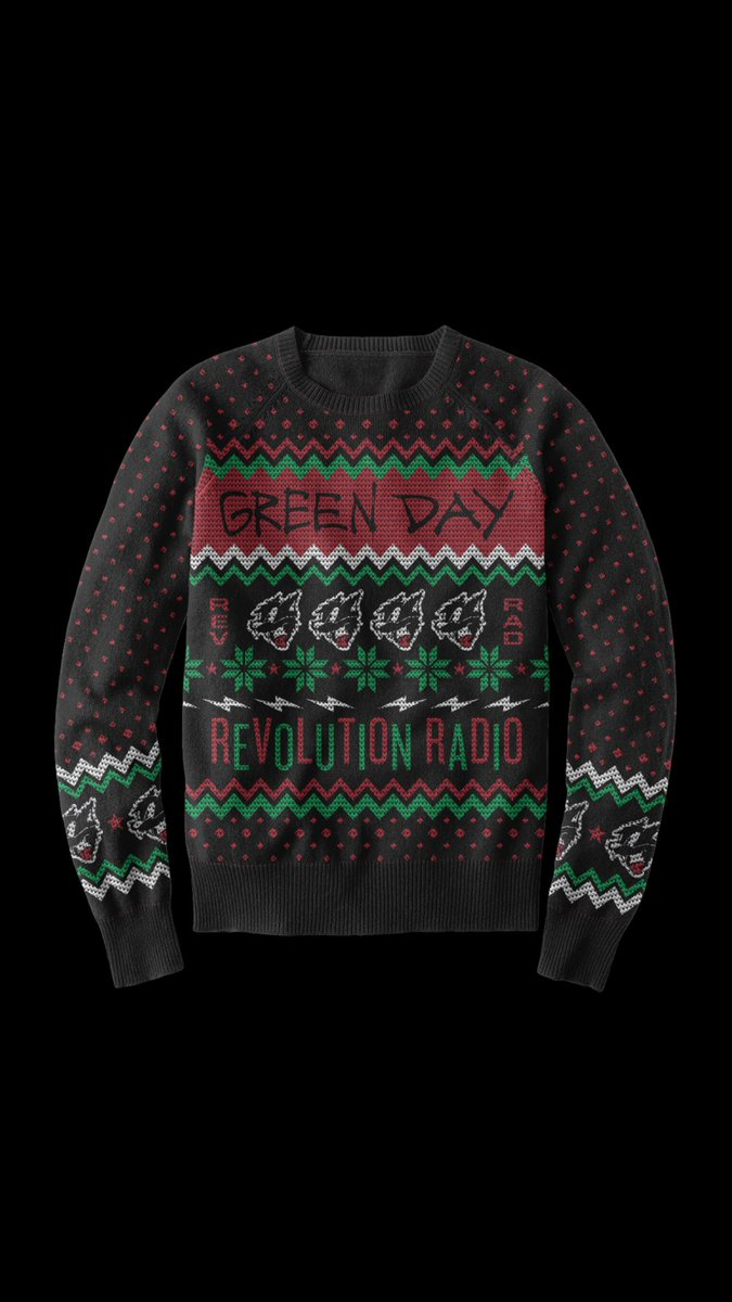Weezer Christmas Sweater.Green Day On Twitter New Rev Rad Ugly Christmas Sweater
