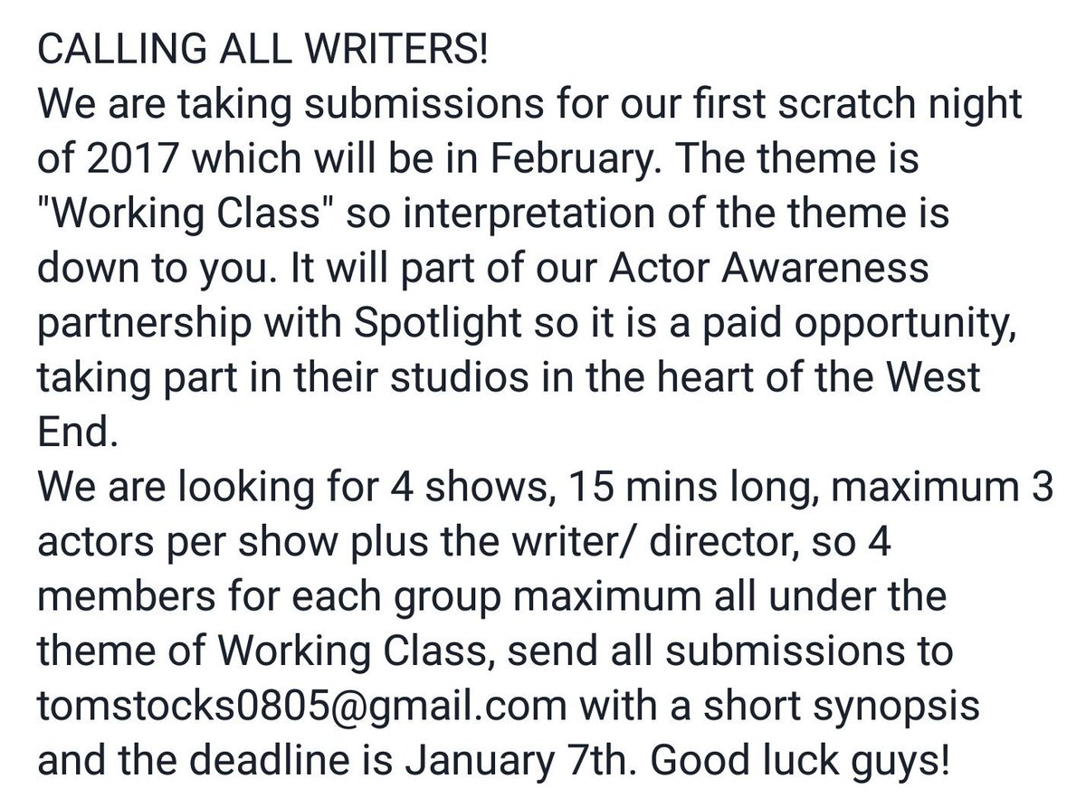Gmail themes not working 2017 - Now Accepting Submissions For Our Next Scratch Night In 2017 All Details Below Newwriting Writers Theatre Https T Co Ysd4vcpccn