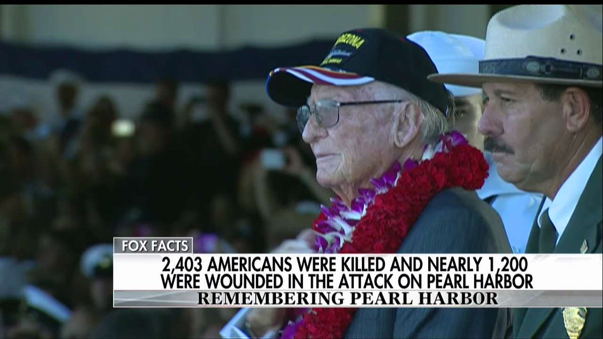 2,403 Americans were killed and nearly 1,200 were wounded in the attack on #PearlHarbor. #PearlHarborRemembranceDay