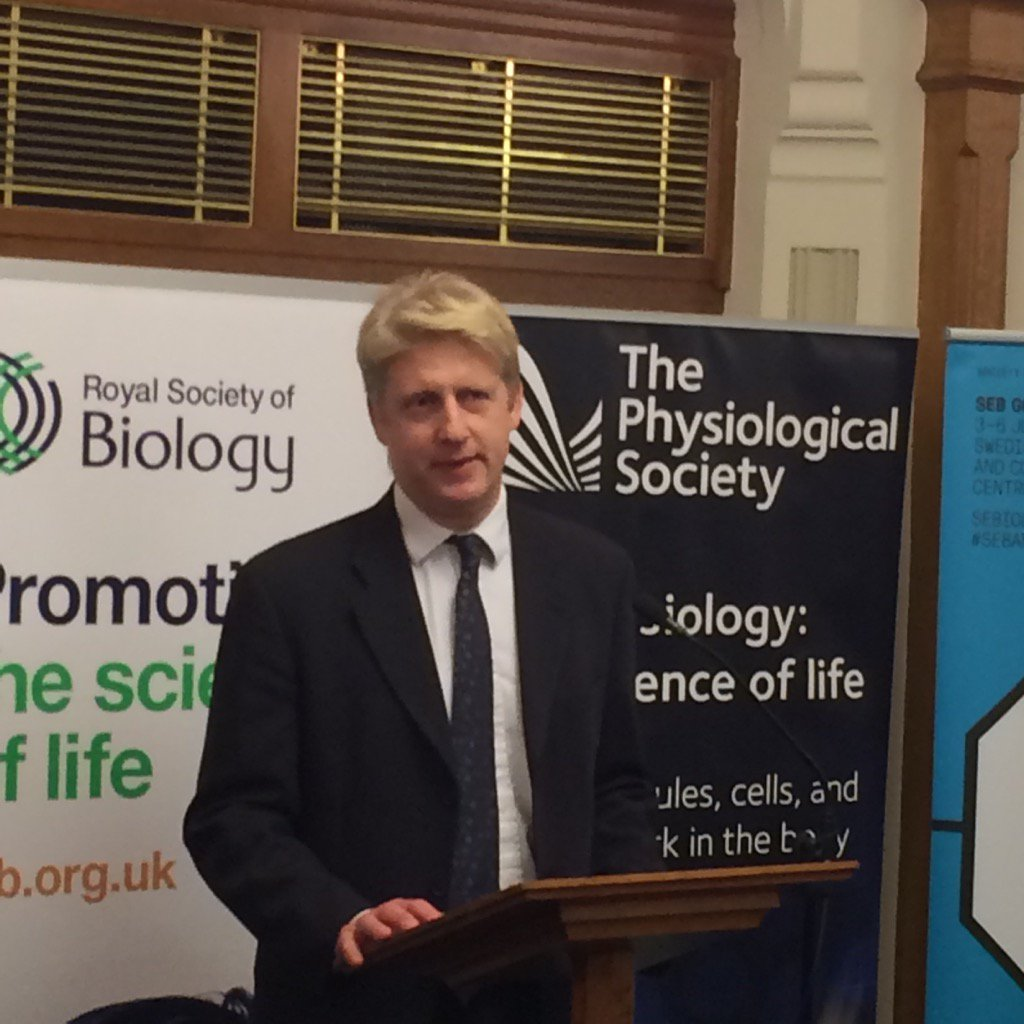 Great to hear positive outlook from @JoJohnsonMP on the future of UK science and engineering investment @RoyalSocBio https://t.co/safB4w4rVX