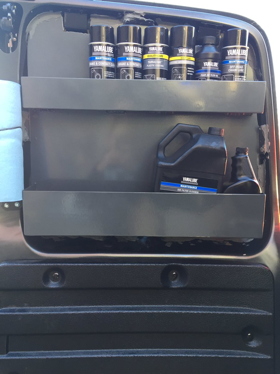@YamalubeUSA got my new van dialed with all the chemicals and oil I'll need at the moto track!!