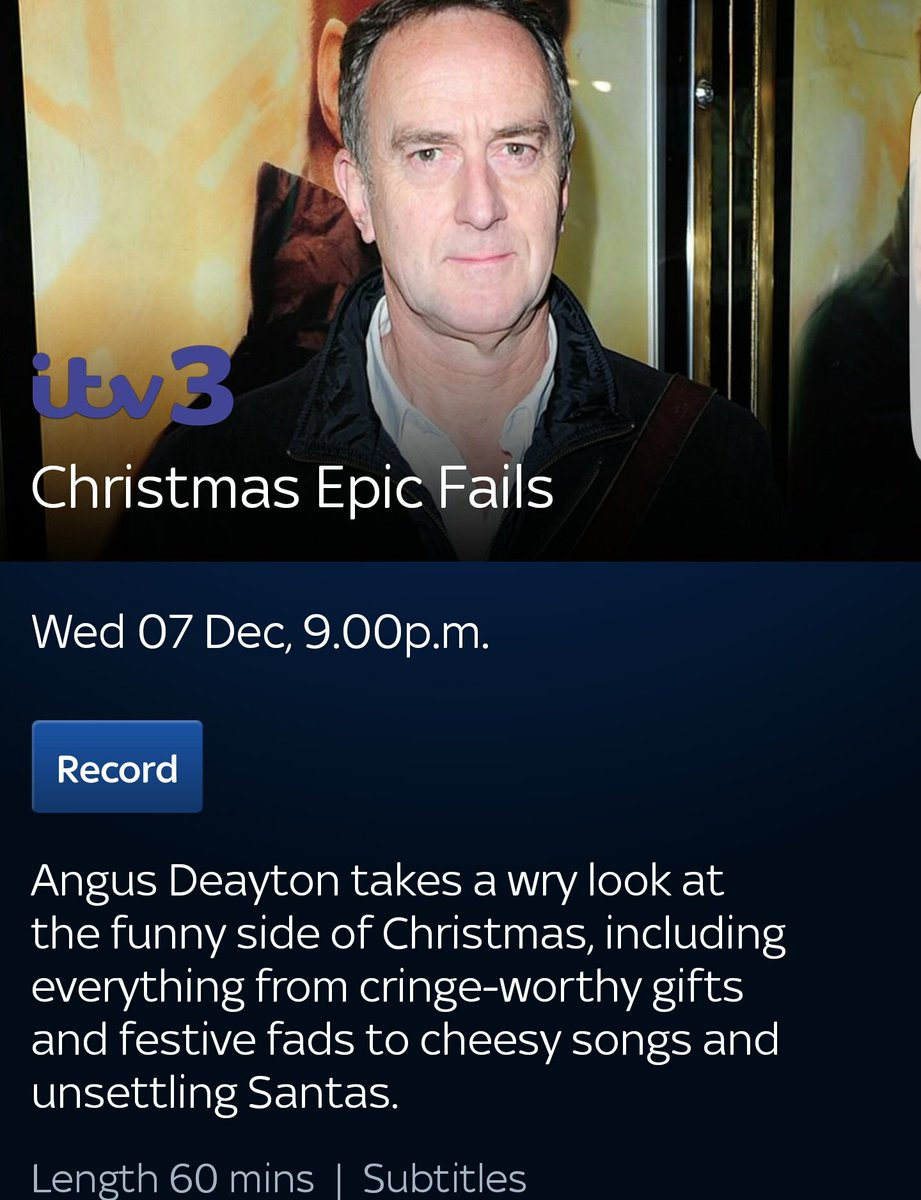 simon withington on twitter christmas epic fails one of my shows airs tonight at 9pm on itv3 or 10pm on itv31 - Christmas Shows Tonight