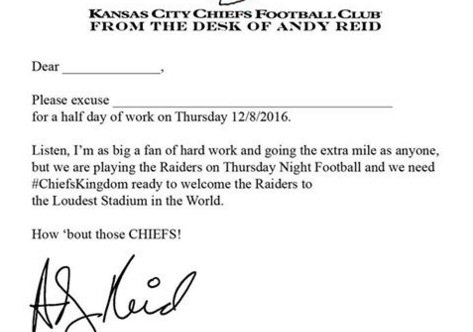 excuse letter for going home early busted coverage on quot arrowhead stadium opening 15748