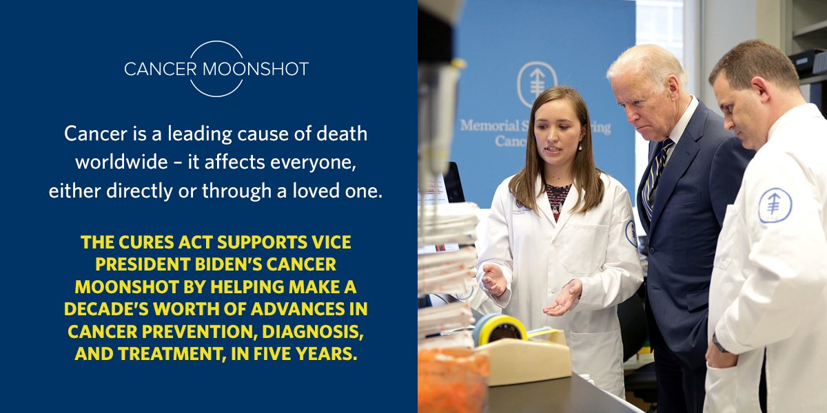 #CuresAct gives @VP's Cancer Moonshot a chance to bring an end to cancer as we know it. https://t.co/36BcH3RLZs https://t.co/vwNmuetUFj