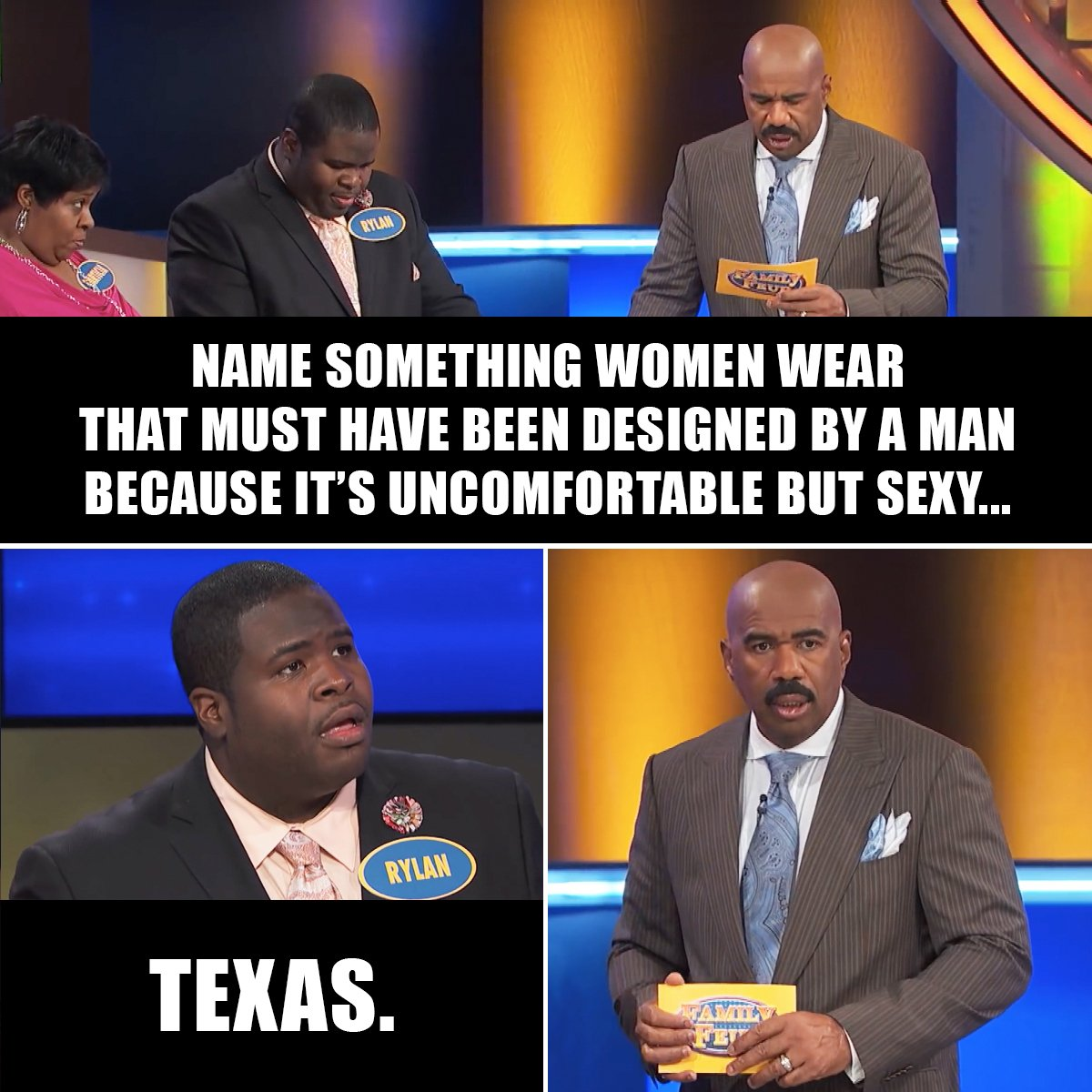 Name something women wear that becomes uncomfortable after a while?