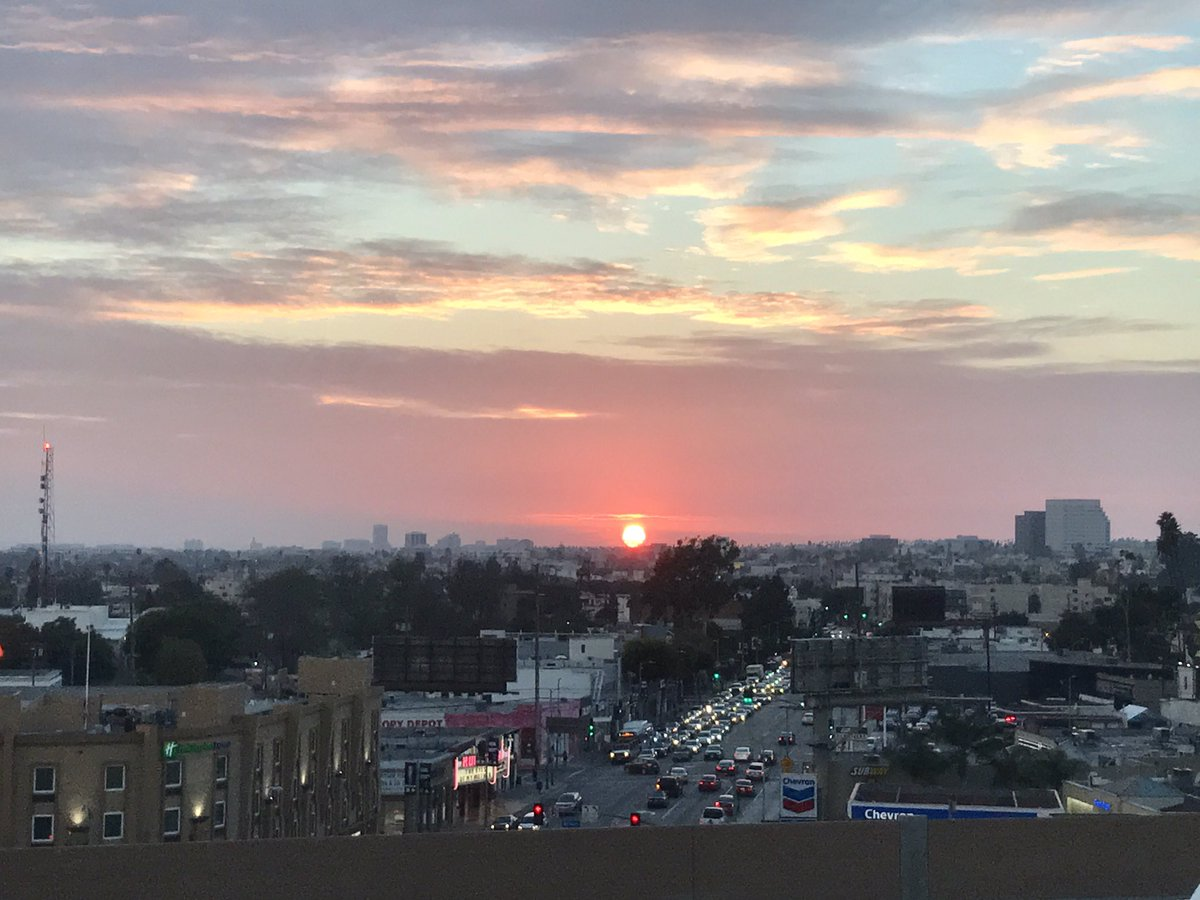 Gorgeous sunset this evening from our LA office!