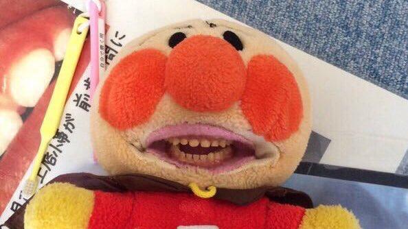 歯科界に導入されたキャラクターぬいぐるみ
