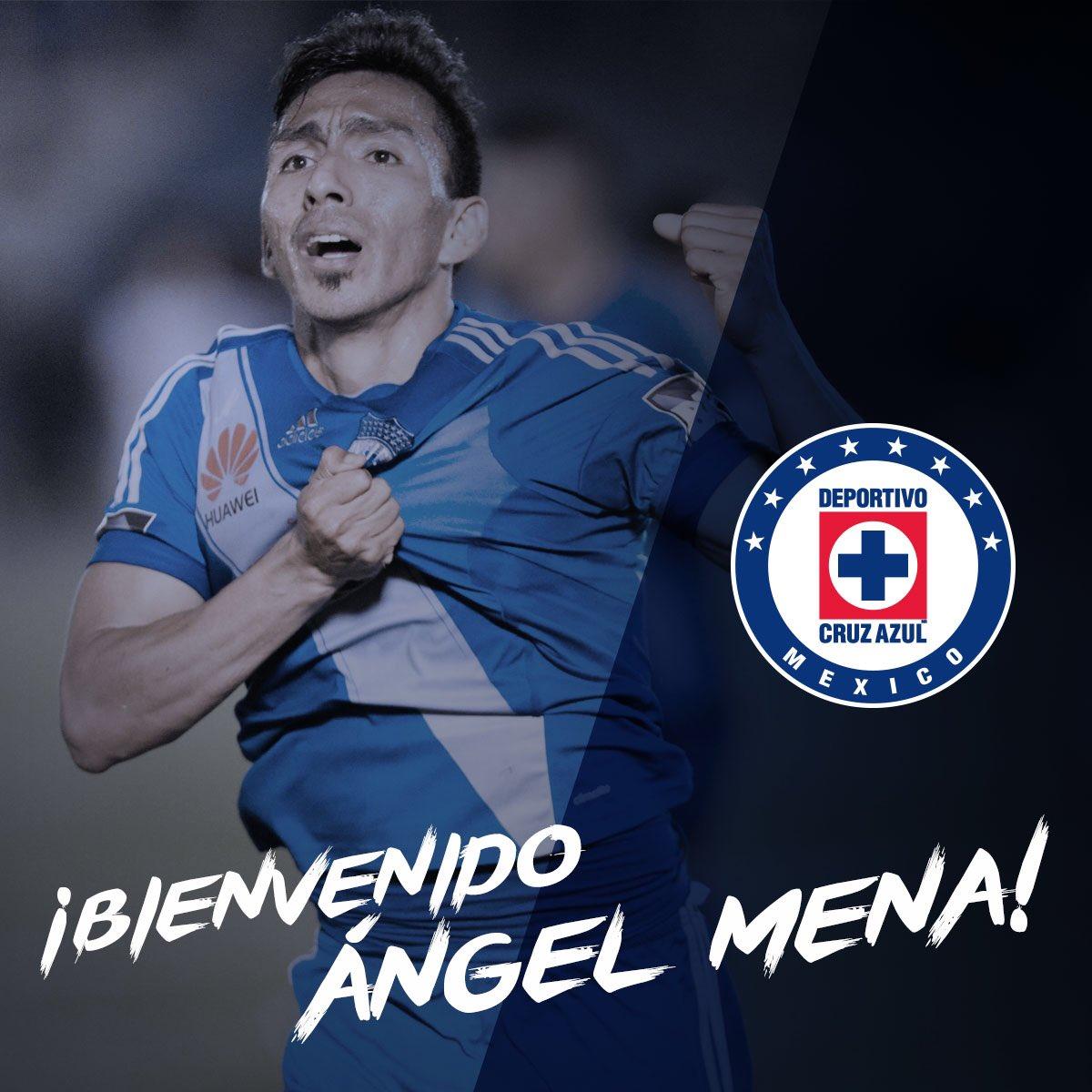 Oficial: Ángel Mena llega a la máquina ¡Bienvenido! #CambiemosLaHistoria #AzulEsTodo https://t.co/GCftytFzuf