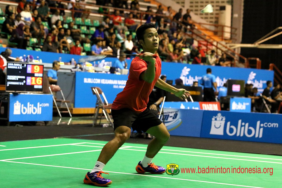"BADMINTON INDONESIA on Twitter ""Anthony Sinisuka Ginting SGS PLN"