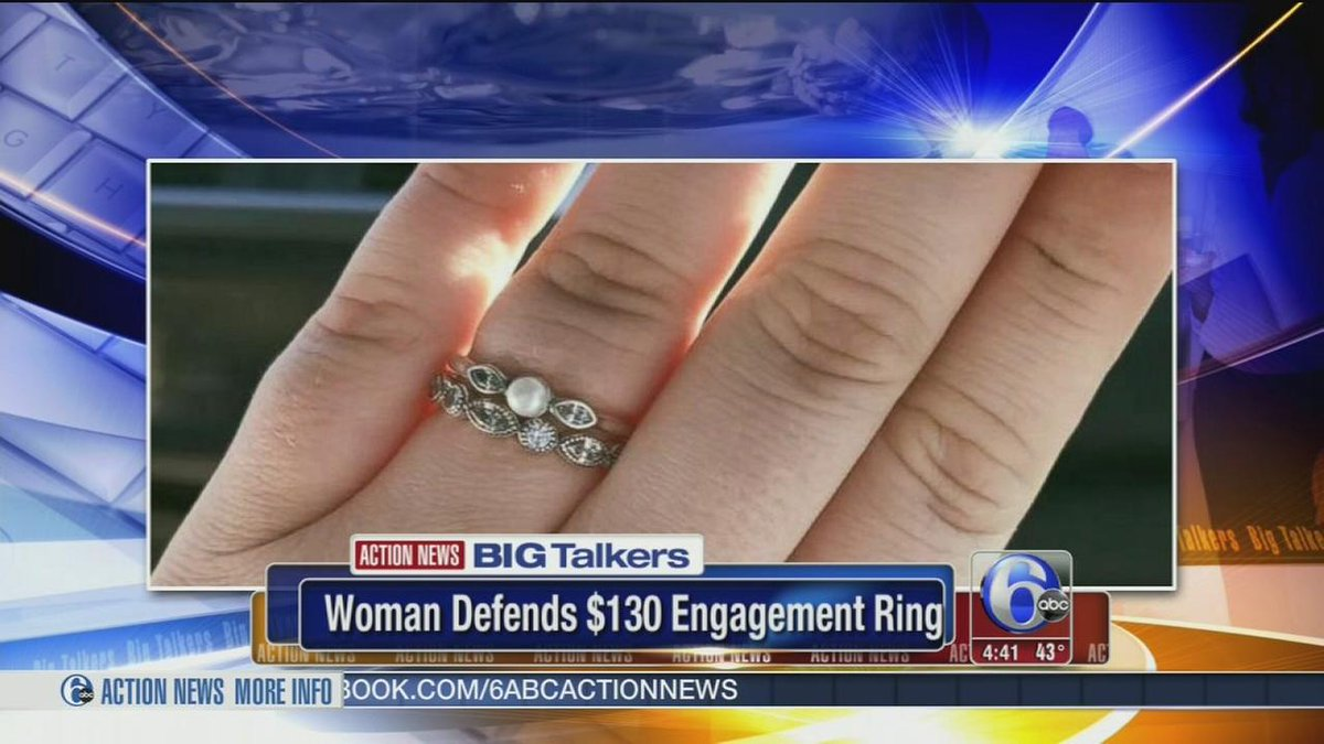 Woman defends $130 engagement ring in viral post