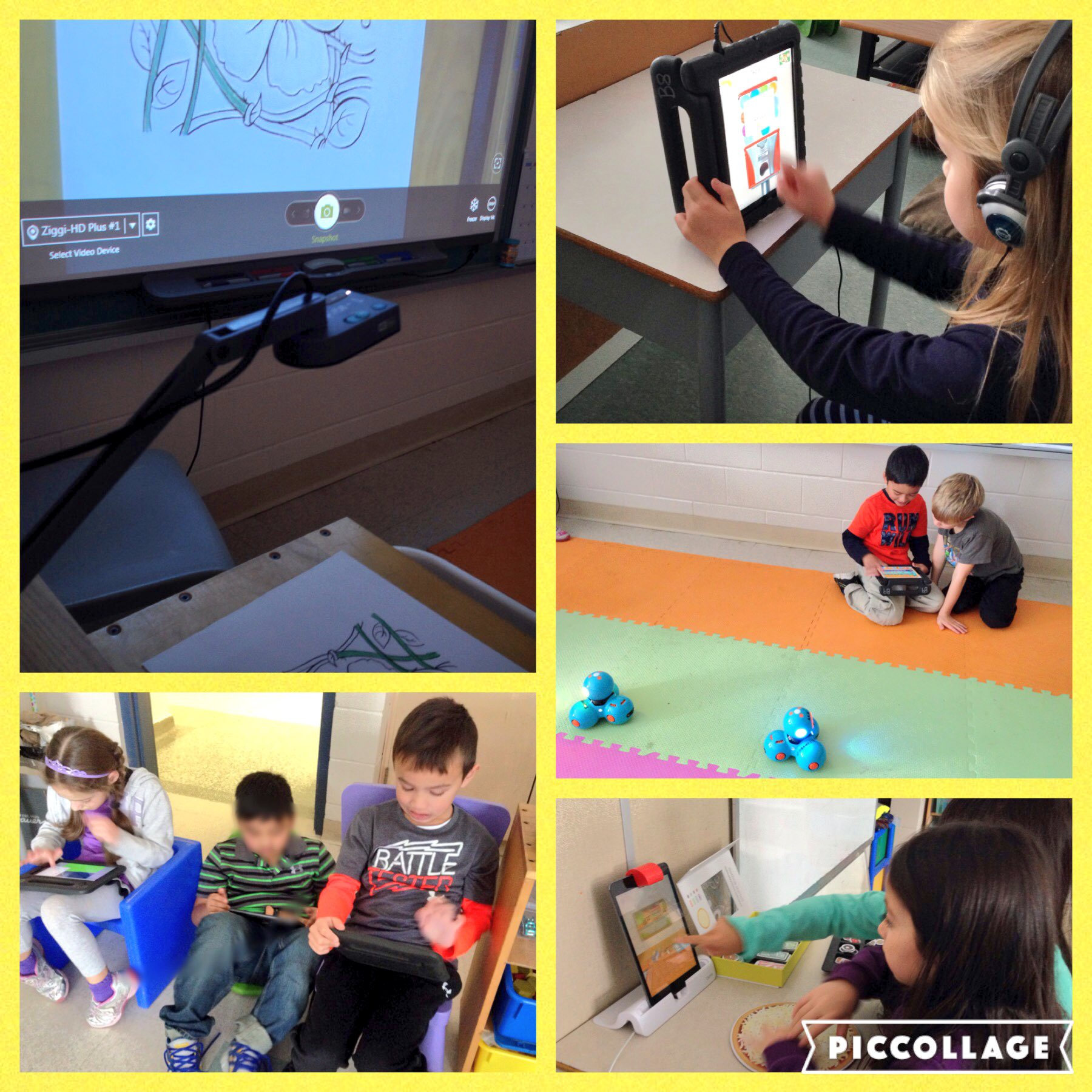 Grade 1 students engaged in learning with technology. @FRAAssisiSchool #ontariocodes #ocsb https://t.co/hgdY9bYXVi