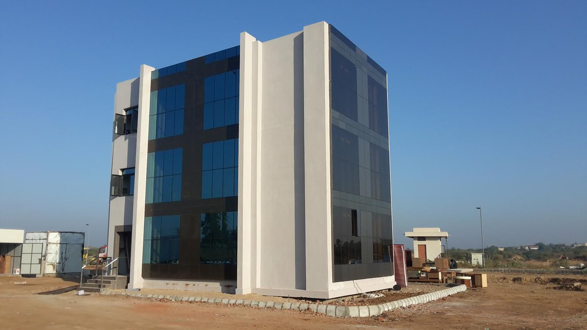 This three-storey building will be set to fire at IIT Gandhinagar today