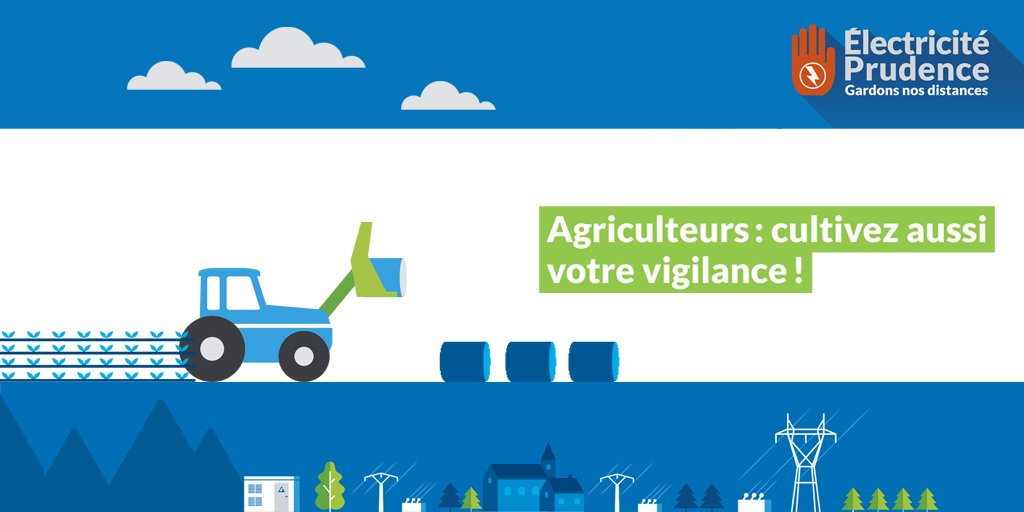 enedis champardenne on twitter electricit prudence agriculteurs cultivez votre vigilance httpstcorq1emcwtea electricitprudence jeunesagri