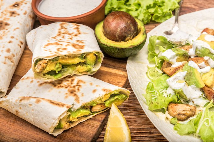 Turkey & Avocado Blender Burritos