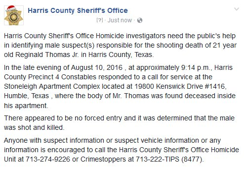 We are asking for the public's help in any information regarding this case