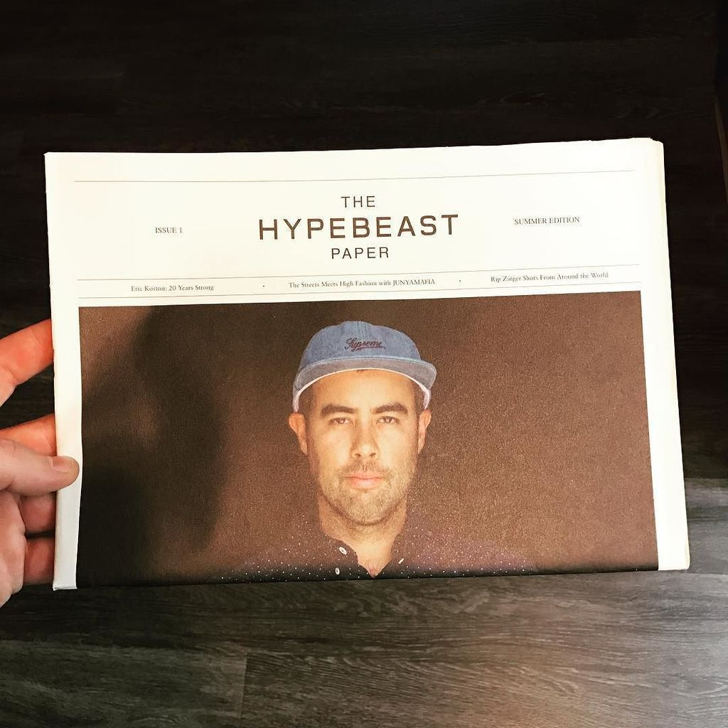 When @hypebeast was a newspaper. #throwbackthursday https://t.co/iOH20kQkds
