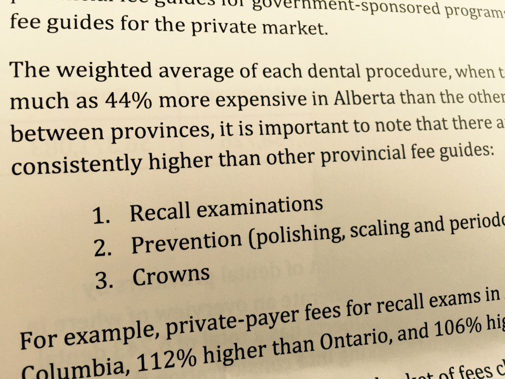 Alberta is bringing back a dental fee guide. A review found prices up to 44% higher than other provinces cbc abgov