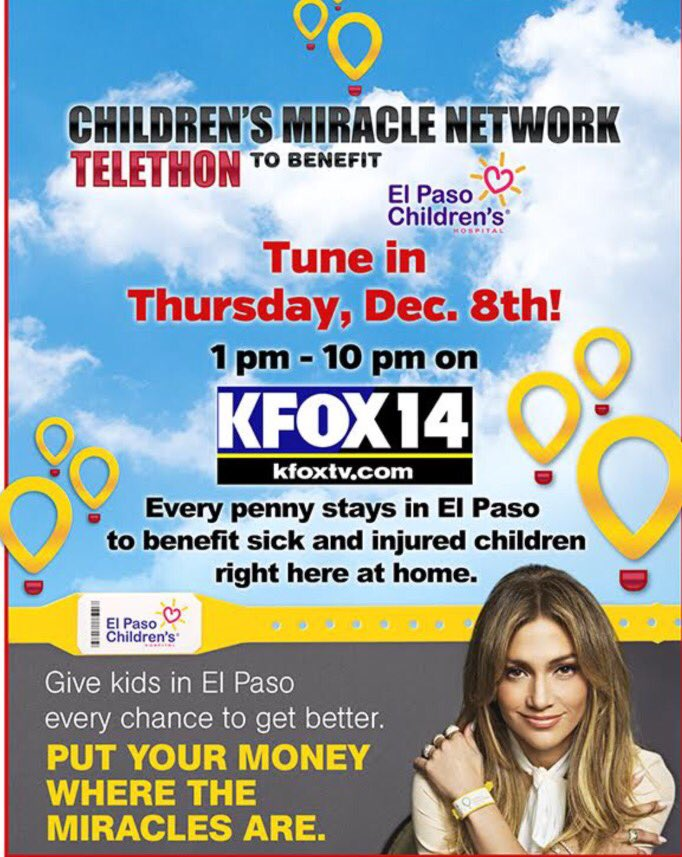 Singing today on @KFOX14 to raise funds for the @ElPasoChildrens Hospital, tune in 3 - 5pm.