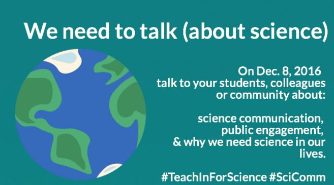 It's here! Today we talk #scicomm @VIMS_News #TeachInForScience I'm pulling skills from @COMPASSonline @alanalda @Tessa_M_Hill Stay tuned! https://t.co/xs6wIc7Y1M