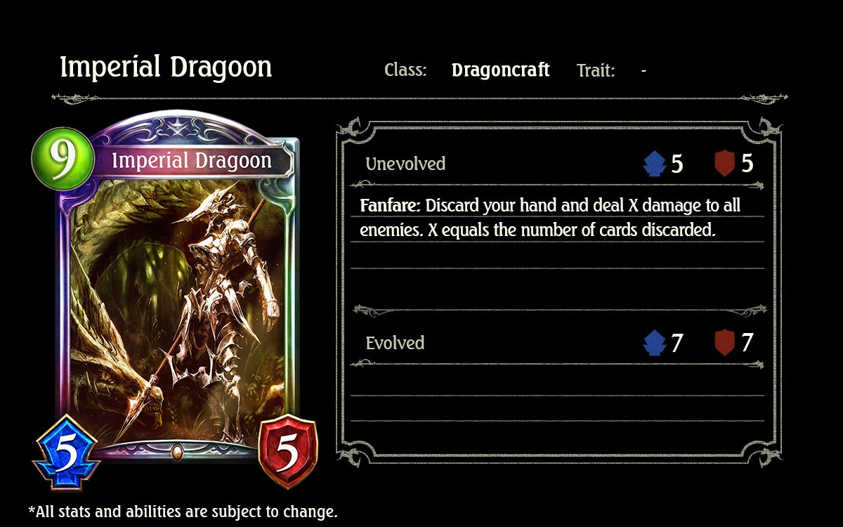 Imperial Dragoon; Shadowverse, Cygames, Rise of Bahamut