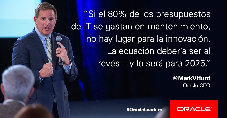 Mark Hurd, CEO de Oracle, sobre #innovación en #OracleLeaders México https://t.co/lNUBBPJmvB