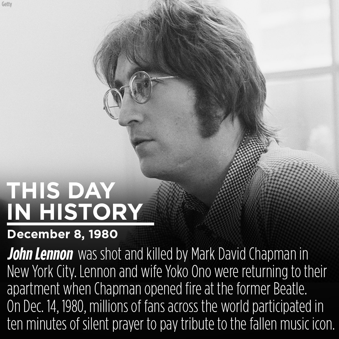 On this day in 1980, the world lost music legend JohnLennon