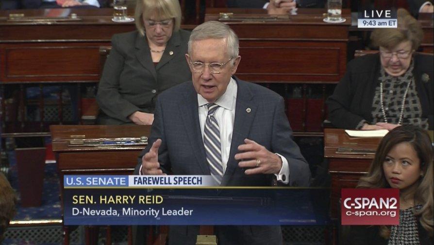 Harry Reid bids farewell to Senate with final speech