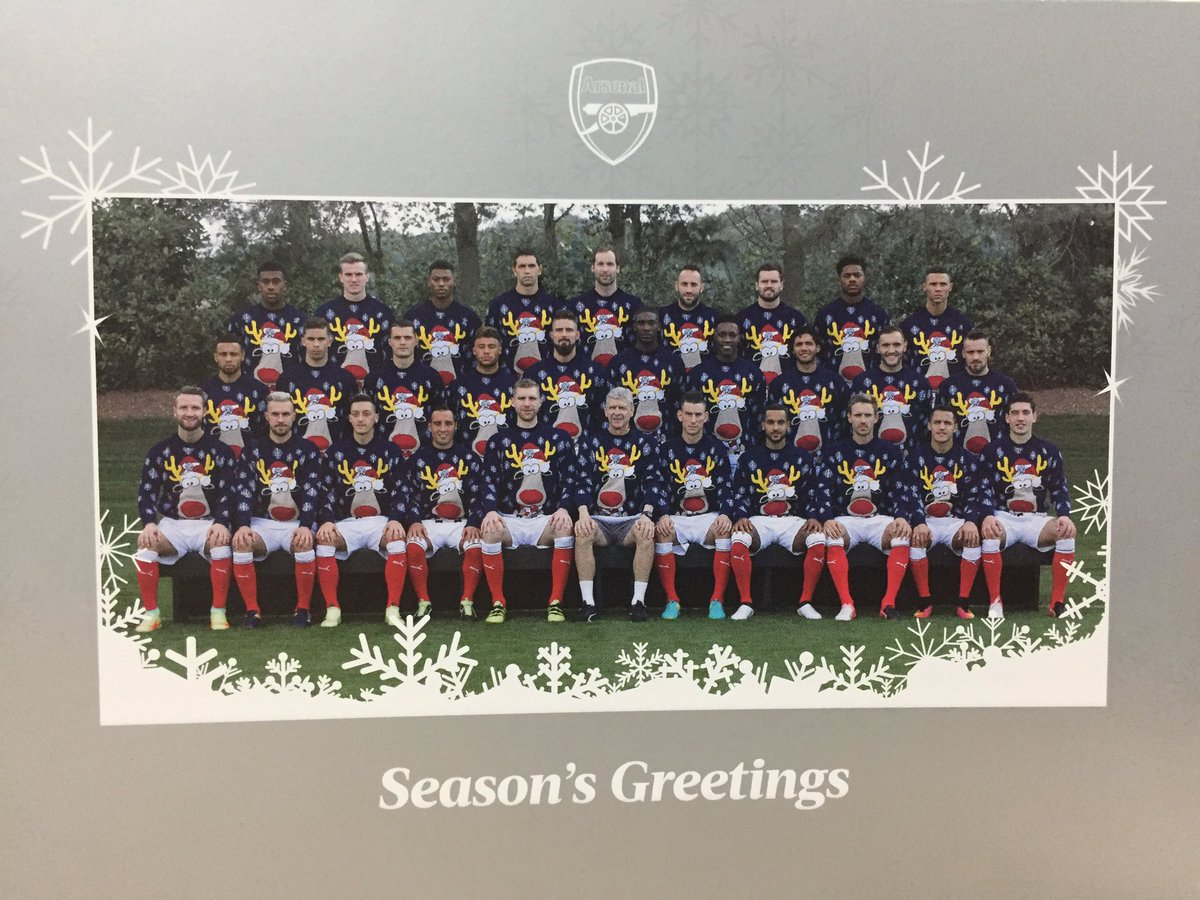 We've just received this great Christmas card from @Arsenal
