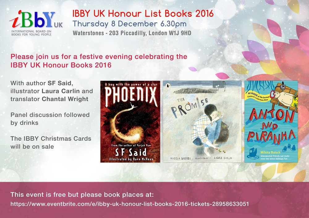 I'm off to @WaterstonesPicc now for tonight's #IBBYHonours event - if you're there, please do come & say hi! @IBBYUK https://t.co/j6OAAOMCeZ https://t.co/PxOuYVsF6X