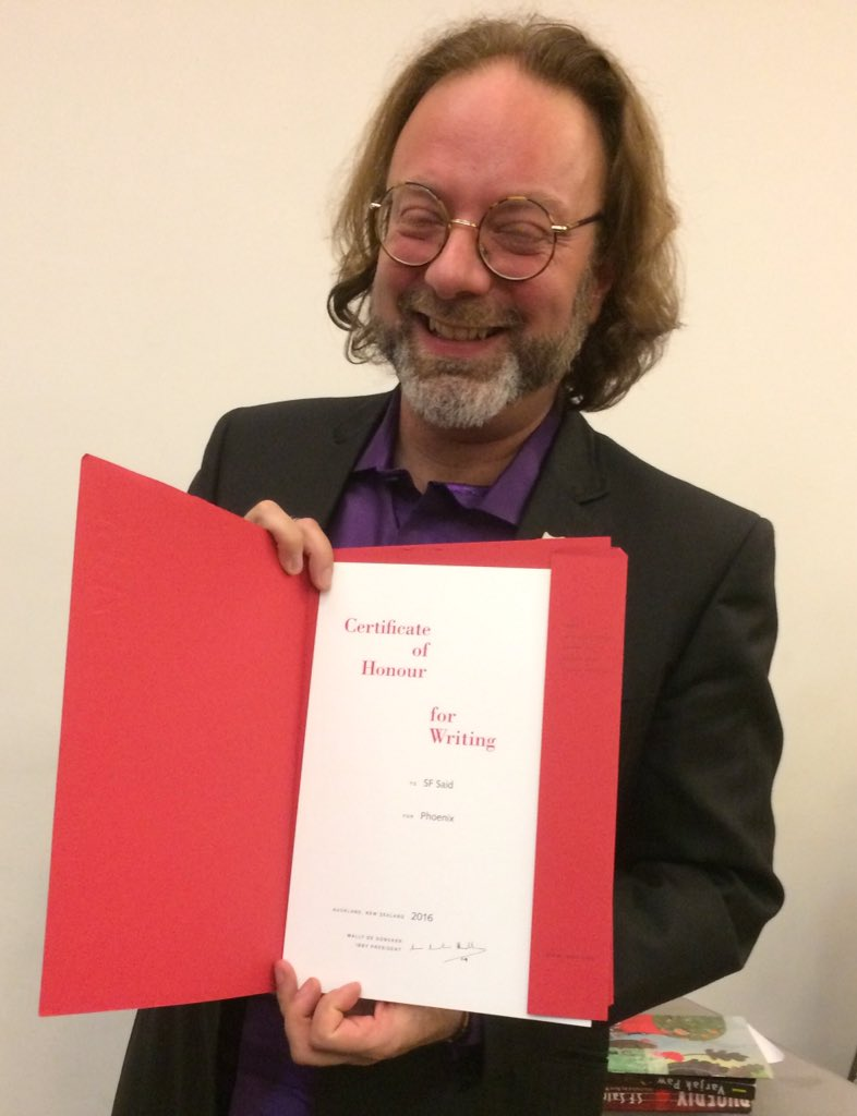 Look @Fortismere_Sch ! Our @patronofreading @whatSFSaid is presented with @IBBYUK Certificate of Honour for Writing. Wonderful! https://t.co/Ol1oZRlw4I