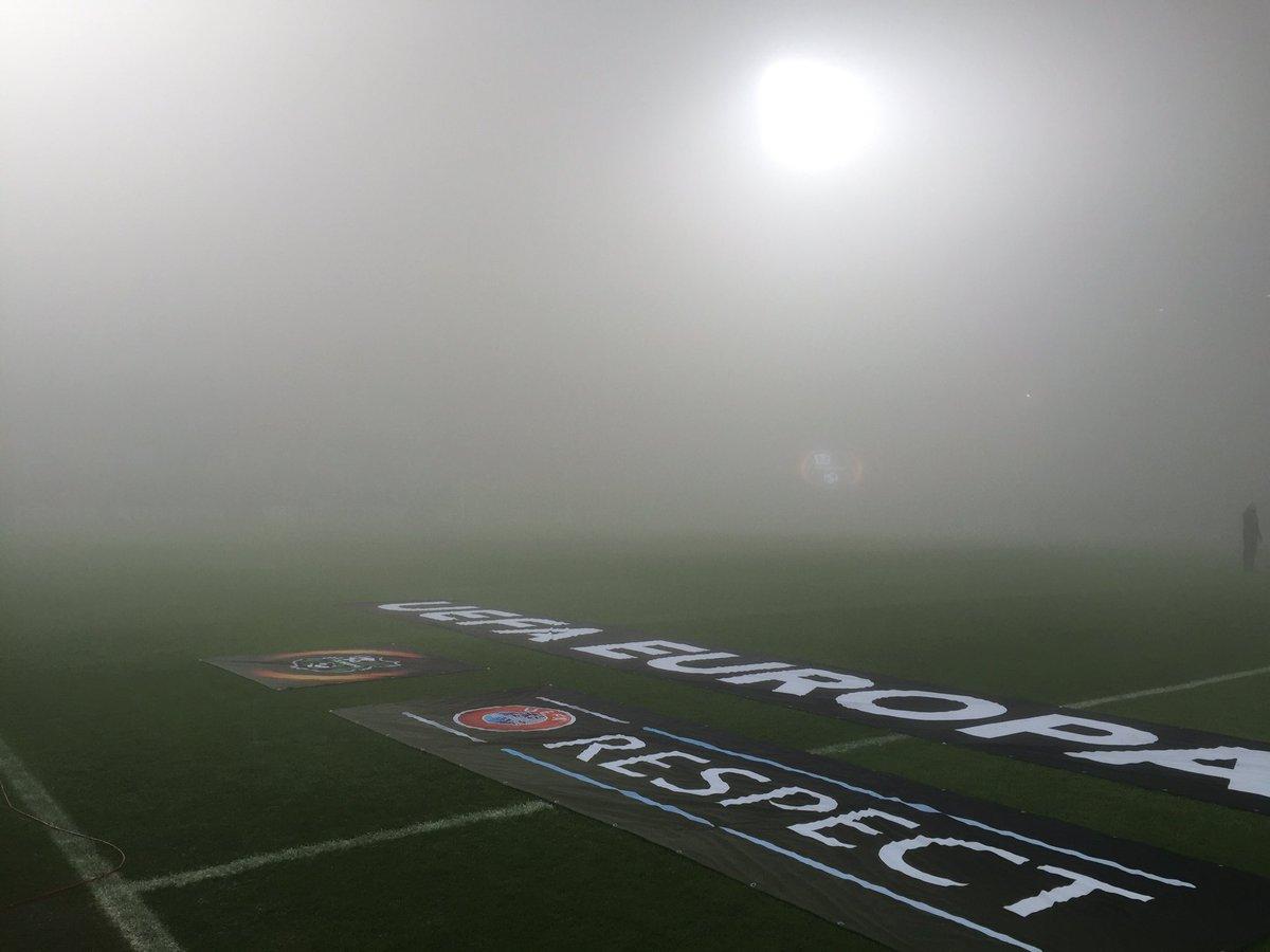 Матч ЛЕ Сассуоло — Генк перенесен на завтра из-за тумана