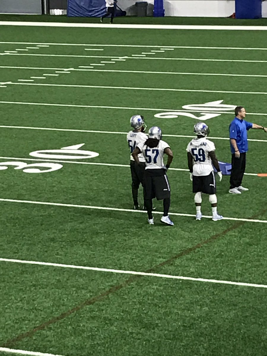 Lions Levy at practice today