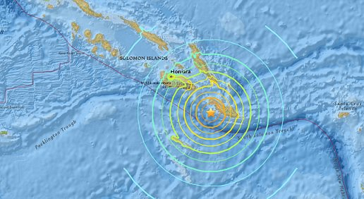 Tsunami watch issued for Hawaii after magnitude-7.7 earthquake off the Solomon Islands.@NWS