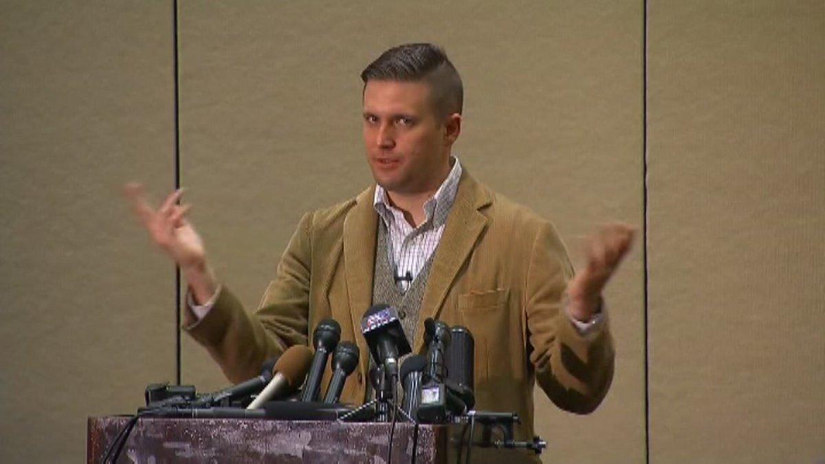 White nationalist speaker: 'We won, this country belongs to white men'