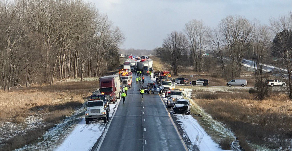 I-96 PILEUP: Freeway remains closed in both directions after 40-car accident. 3 people confirmed dead. Local4