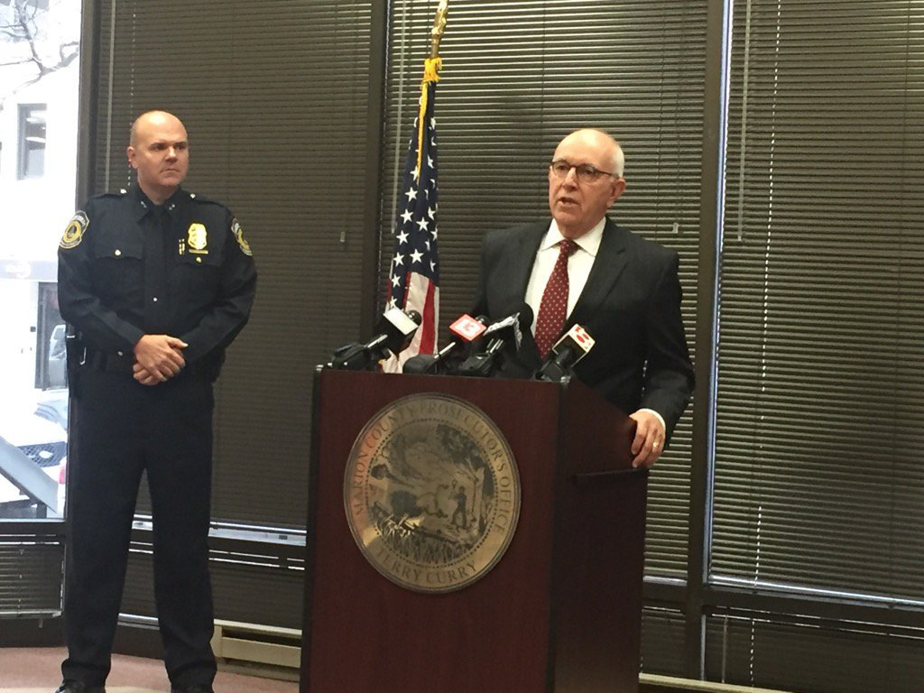 Prosecutor Curry says Damoine Wilcoxson is charged with Attempted Murder in IMPD N. Dist. headquarter shooting @rtv6