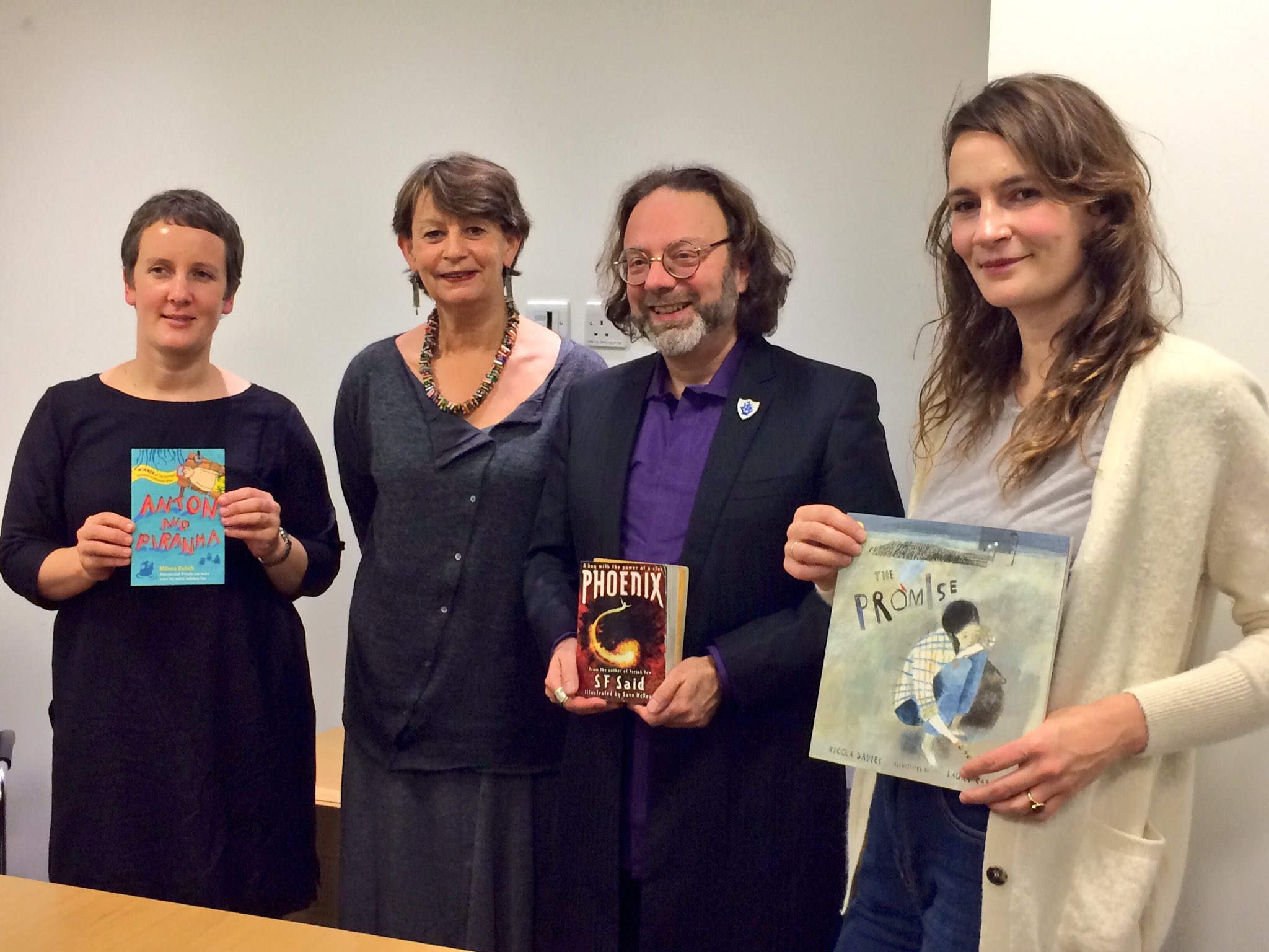 Our wonderful #IBBYHonours authors & illustrator showing off their work. Looking forward to hearing them speak! https://t.co/723Bn7FnhW