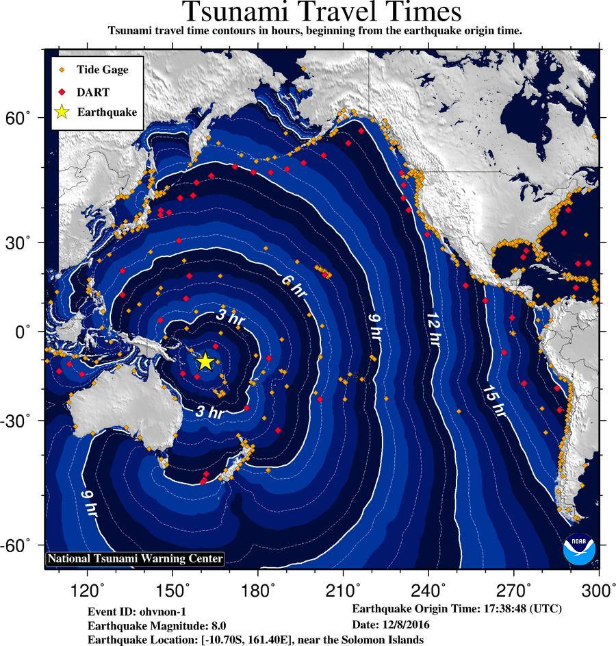 Tsunami watch issued for Hawaii, no decision on West Coast danger after South Pacific quake