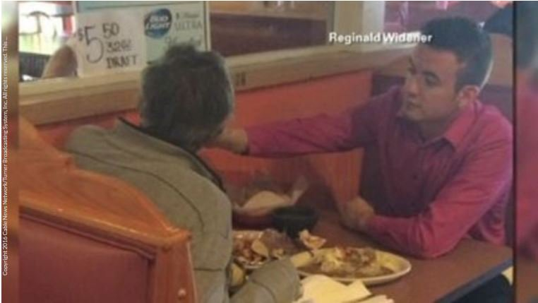 Server goes above and beyond, feeds man with no hands.