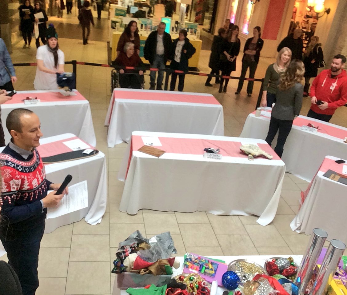 Getting ready to get my wrapping on at @kingswaymall wrapandroll