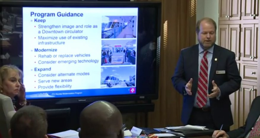 @JTAFLA board reviewing plans to modernize the Skyway system. WATCH LIVE