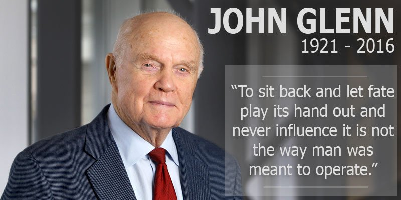 John Glenn, American hero, aviation icon and former U.S. senator, dies at 95 https://t.co/gZQ1OlA2W5