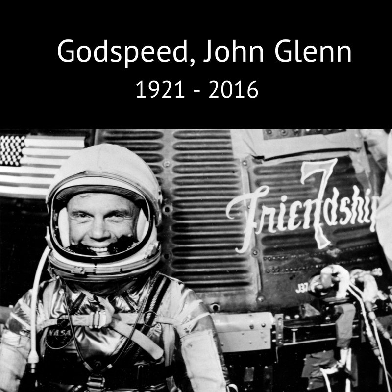 We are saddened by the loss of Sen. John Glenn, the first American to orbit Earth. A true American hero. Godspeed, John Glenn. Ad astra.