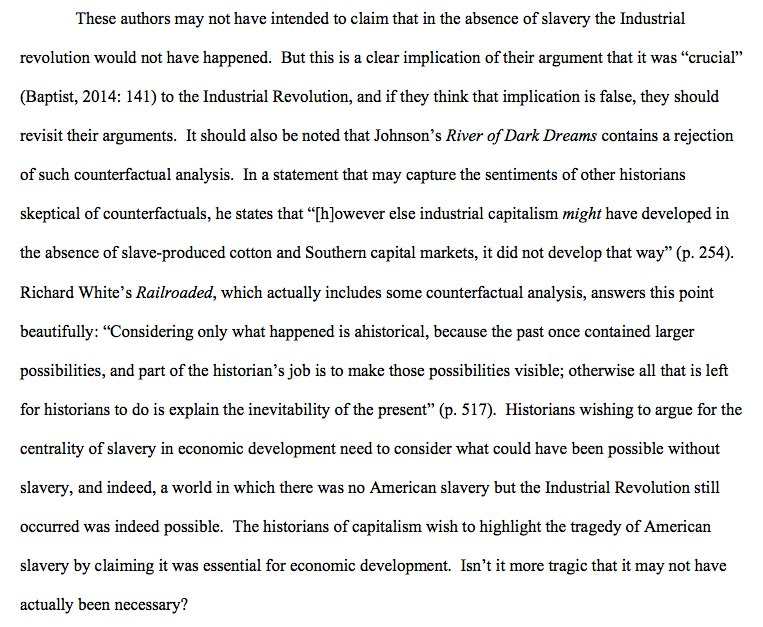 @ATabarrok @M_C_Klein FYI, Eric Hilt's forthcoming Journal of Economic History piece has a good section on the question of counterfactuals. https://t.co/db3Y7uXvJk