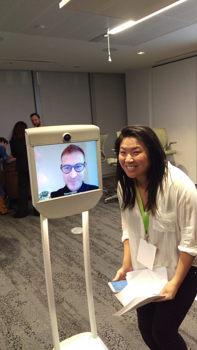 Paula and robo @tomemrich - the future is awesome #wearewearables #wwto https://t.co/hvfeBMlc5d