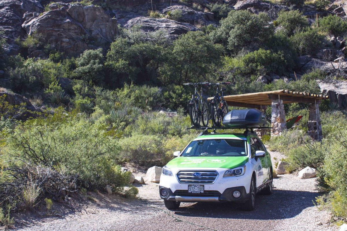 Stay at one of one of 14 tent sites or five RV sites at the Franklin Mountains: GetOutdoors