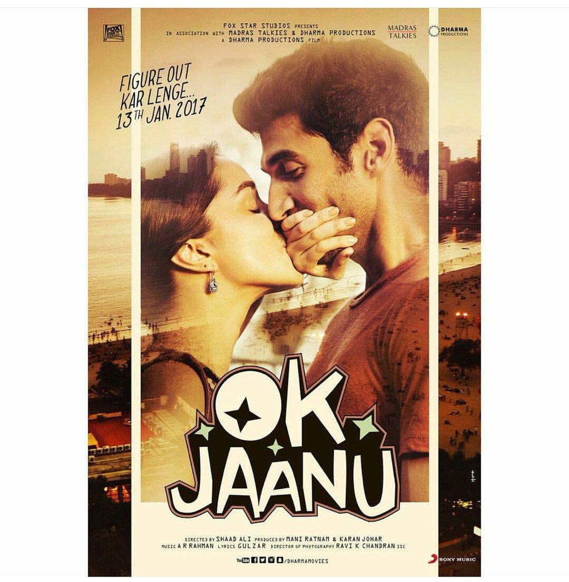 Ok Jaanu First Poster starring Aditya Roy Kapur, Sharaddha Kapoor