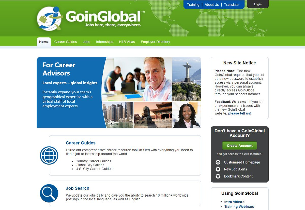LJMU Careers Team Students Check Out The Goinglobal Database Which Lists Millions Of Jobs Internships From Around World
