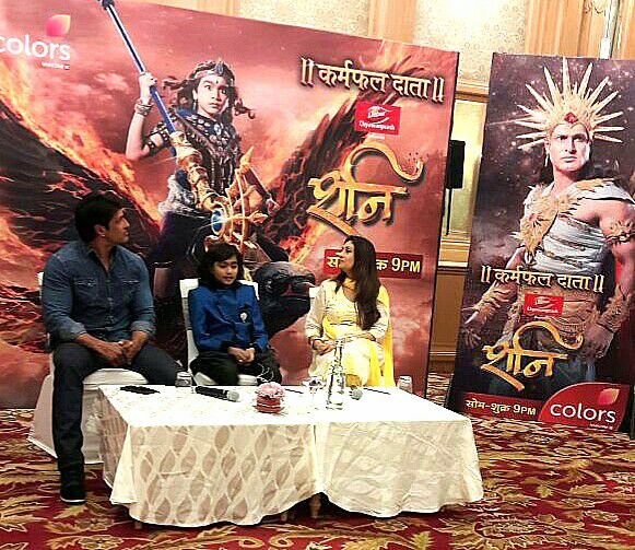 Shani having fun with father Suryadev and mother Chaya @ Lucknow Promotions!  #kpdshani #colours #swastikproductions